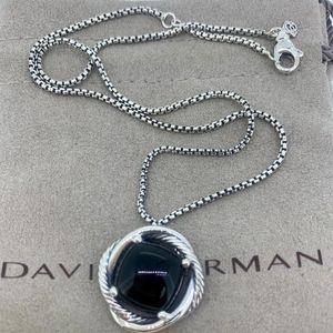 David Yurman Infinity Necklace with Black Onyx